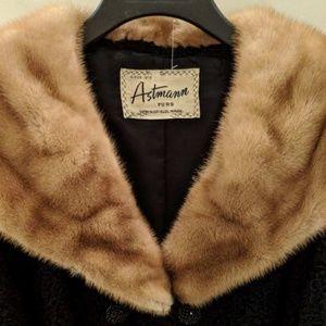Curled lamb & mink coat